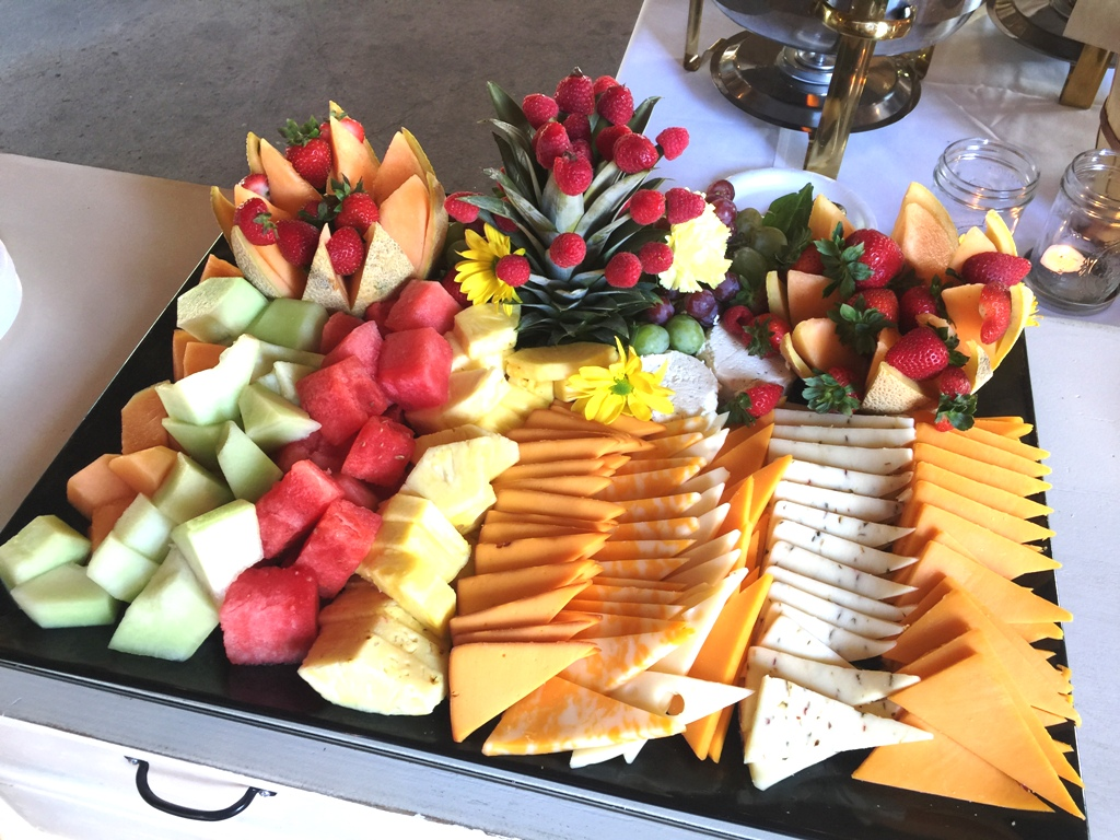Farm Wedding - Fruit and Cheese Tray
